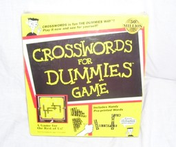 CROSSWORDS FOR DUMMIES Board Game NEW! 1998 - $24.96