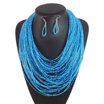 Multilayer Beads Necklace Jewelry Women Accessories Fashion Necklace earrings JB - $21.99