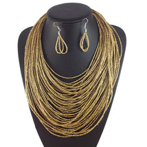 Multilayer Beads Necklace Jewelry Women Accessories Fashion Necklace earrings JG - $21.99