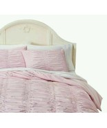 Simply Shabby Chic Ruched Pink 3-PC King Duvet Cover and Shams - $72.00