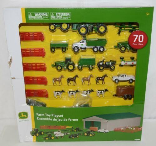John Deere TBEK46276 Farm Toy Playset 70 Piece Machine Shed