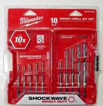 Milwaukee 48-89-4445 10 Piece Shockwave Hex Shank Impact Drill Bit Set - $17.82