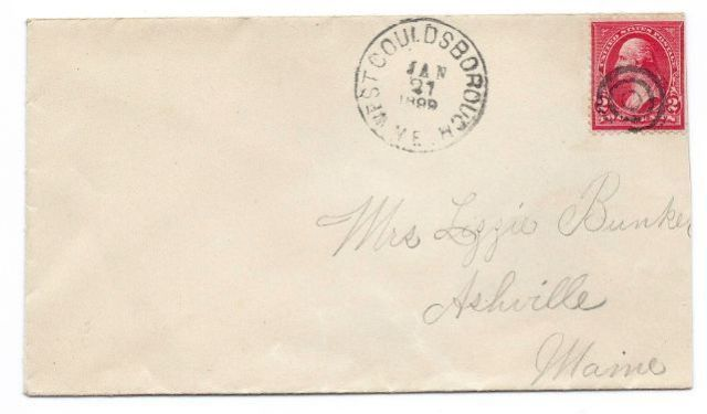 Primary image for 1899 West Gouldsborough ME Discontinued/Defunct (DPO) Post Office Postal Cover