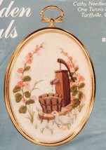 Cathy Golden Ovals Barnyard Duck Stamped Embroidery Kit HollyHocks Water... - $12.55
