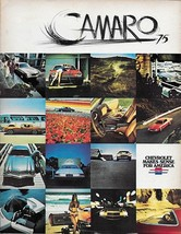 1975 Chevrolet CAMARO brochure catalog US 75 Type LT Sport Chevy - $9.00