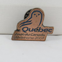 Juex Canada Winter Games Pin - 2007 Whitehorse Yukon - Team Quebec - $15.00