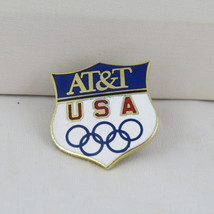 1988 Winter Olympic Games Pin - Team USA - AT&T Sponsor Pin - Shield Design - $25.00