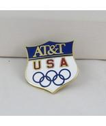 1988 Winter Olympic Games Pin - Team USA - AT&T Sponsor Pin - Shield Design - $25.00