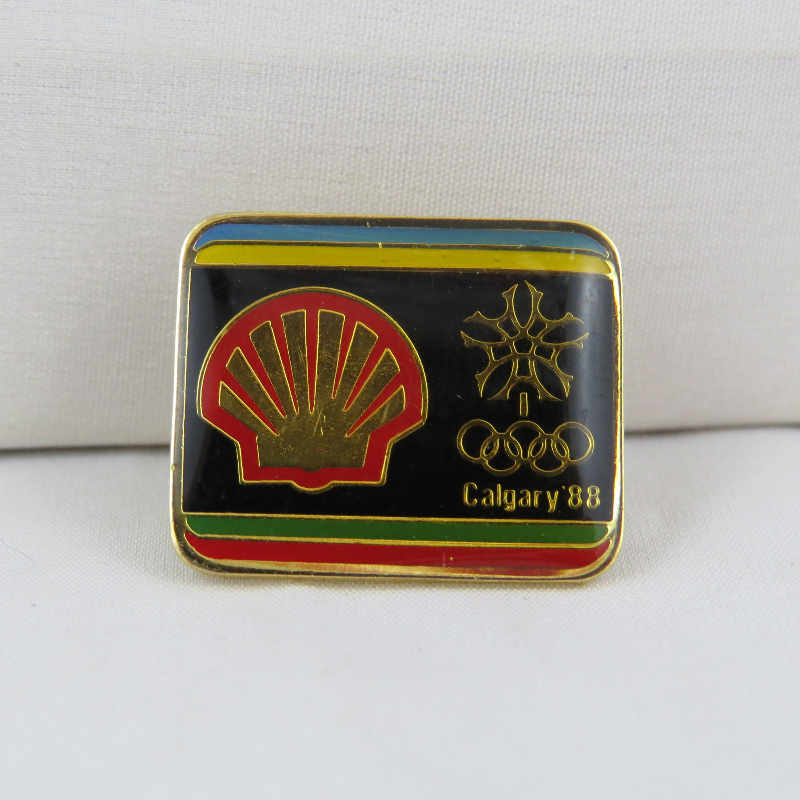 Primary image for 1988 Olympic Winter Games  Pin - Shell (Gas) Sponsor Pin - Hard to Find