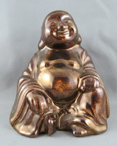 Vintage Ceramic Buddha Figurine - Painted Bronze made of Ceramic - Very Cool !! - $35.00