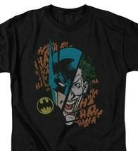 Batman Joker T-shirt SuperFriends retro 80s cartoon DC black graphic tee DCO293 image 1