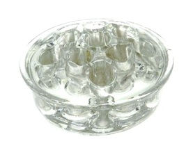 Vintage Clear Glass Flower Frog Round Holes for... - $24.47