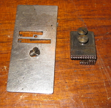 Antique Free Vibrating Shuttle Throat Plate & Feed Dog w/ Screws - $10.00