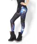 Blue Galaxy Space Digital Print Yoga Leggings Women Pants Fashion Tights... - $21.99