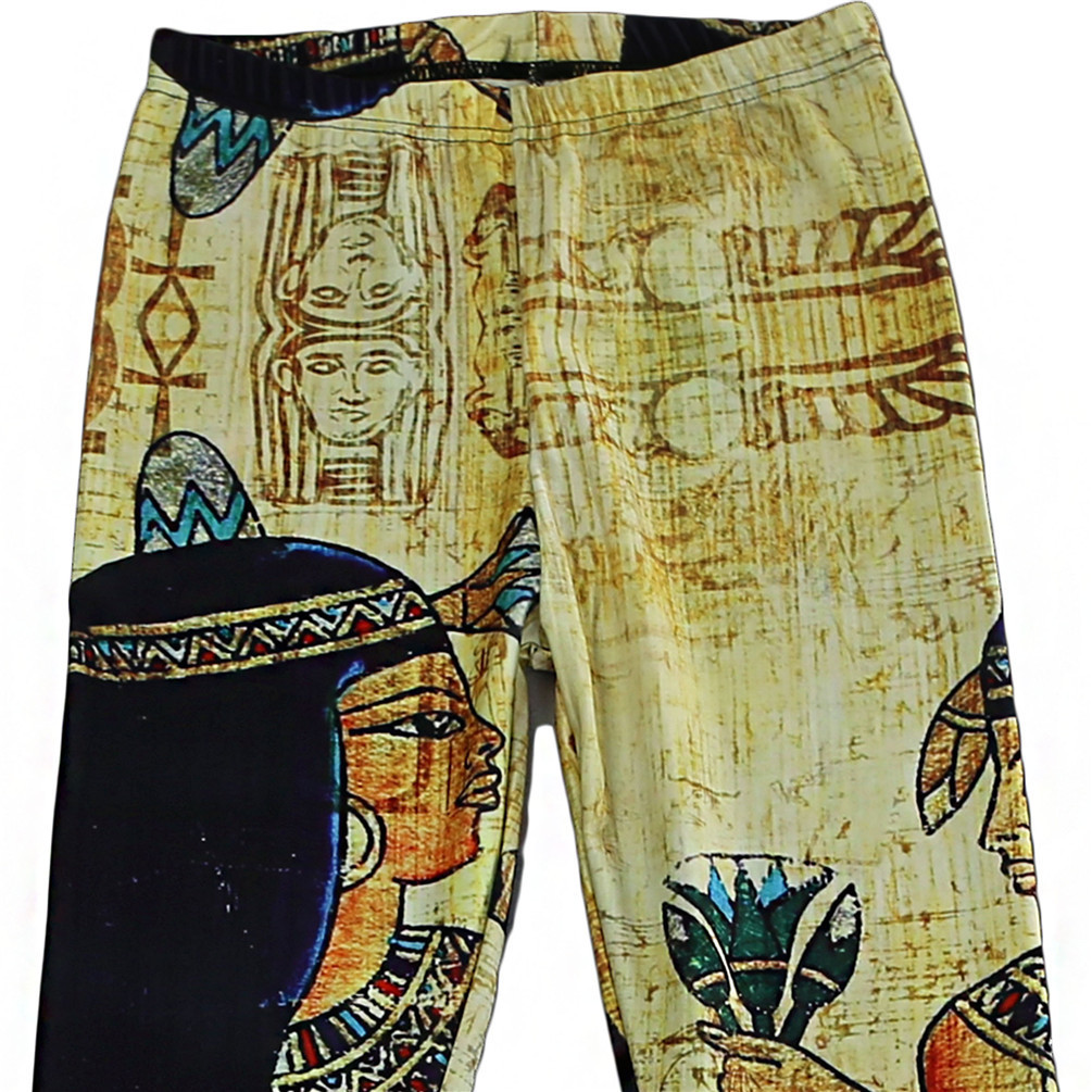 Yellow Egypt Clepatra Digital Yoga Leggings Women Pants