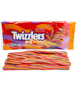 4 Twizzlers Fruit Punch Pull n Peel Licorice Twists: 14-Ounce Bags New C... - $27.99