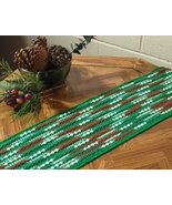 Red Green Abstract Table Runner - Handmade Crochet Decor by RSS Designs ... - $45.00