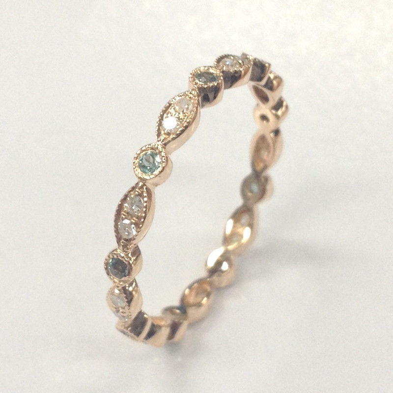 green alexandrite wedding band eternity