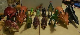 Huge Lot of 14 Different Pretend Play Dinosaurs Figures Rare HTF Jurassi... - $18.70