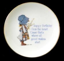 Holly Hobbie Plate American Greetings Lasting Treasures Japan Mini Vintage - $19.37