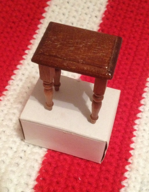 "Primary image for Mini Dollhouse Table End Night Stand  2"" Tall NIB"