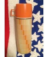Vintage Thermos - KING-SEELEY THERMOS CO - No 2210 - Orange - Complete USA - $14.99