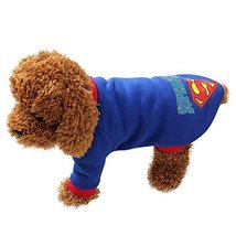 Fashion Cotton Warm Dog T Shirt Hoodie, Super Man Design Winter/fall Cos... - $22.99