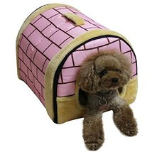 NACOCO Delicate Cotton Detachable Arc House Shape Pet Dog House (Pink br... - $50.00