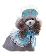 NACOCO Pet Cloak Dog Princess Suit Pet Dog Clothes Including a Hat and a Cloa... - $14.99