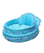 NACOCO Cute Princess Cradle Pet Bed with Removable Pet Mat (blue) [Misc.] - $66.99