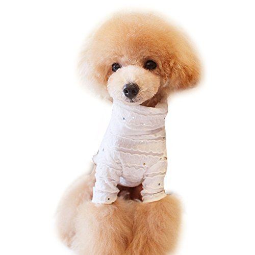 Primary image for 2015 Spring Summer Pet Clothing Classic Sequins Pleated Lace Unlined Upper Ga...