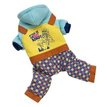 NACOCO Colorful Cotton Dog Raglan Coat with Robot Stories Style (Middle(... - $26.99