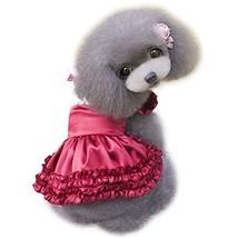 NACOCO 2015 Lolita Style Satin Cloth Pet Clothes Dog Dress the Spring an... - $12.99