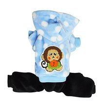 NACOCO Small Pet Dog Warm Cotton Coat Winter/fall (blue, XS) [Misc.] - $14.99