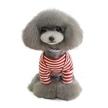 2015 Teddy Dog Clothes the Spring and Autumn Striped Sailor Embroidered ... - $32.00