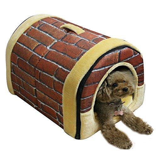 NACOCO Delicate Cotton Detachable Arc House Shape Pet Dog House (Classic bric... - $80.00
