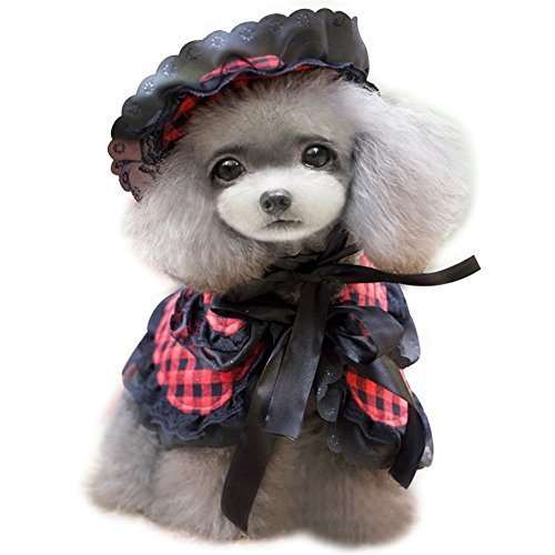 NACOCO Pet Cloak Dog Princess Suit Pet Dog Clothes Including a Hat and a Cloa...
