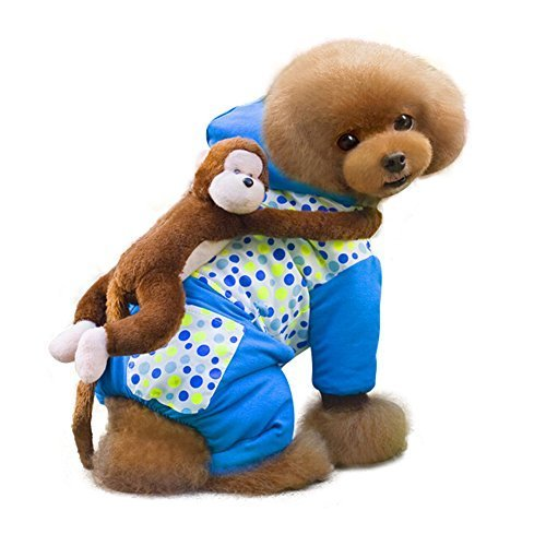 Primary image for NACOCO Innovative Cotton Dog Costume with a Cute Monkey on Back (Middle(Neck ...