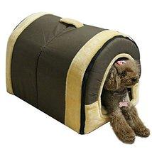Delicate Cotton Detachable Arc House Shape Pet Dog House (coffee, Large (22*1... - $80.00