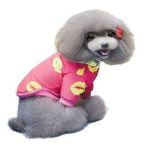 """NACOCO Cute Cotton Star Hat Two-legs Pet Coat (Rose red, Middle(Neck 11""""... - $26.99"""