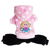 NACOCO Small Pet Dog Warm Cotton Coat Winter/fall (pink, L) [Misc.] - $14.99