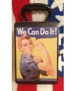 """ROSIE THE RIVETER metal lunch box """"We Can Do It!"""" Women's Rights - $14.99"""