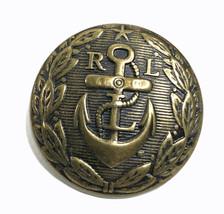 "Ralph Lauren Anchor RL gold tone metal Replacement Sleeve button .60"" - $4.80"