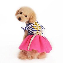 NACOCO the New Pet Clothes Dog Puppy Clothes the Navy Stripe Fleabane Sk... - $10.88