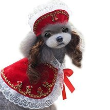 NACOCO Pet Cloak Dog Princess Suit Pet Dog Clothes Including a Hat and a... - $14.99