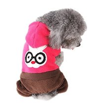NACOCO Cute Coral Fleecedog Coat for Winter with Leisure Pattern (Red, L) - $21.99