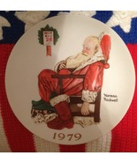 """Collectible """"The Day After Christmas"""" NORMAN ROCKWELL 8 1/2"""" Santa Plate... - $19.99"""