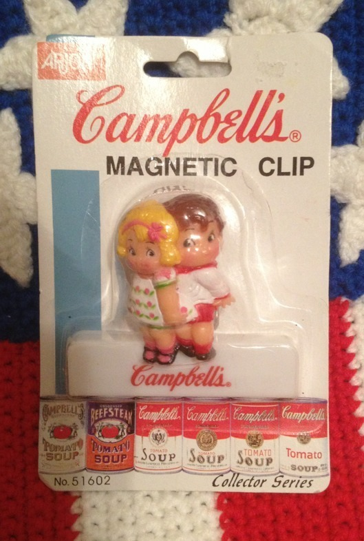 Primary image for Campbell's Soup Kids Magnet Clip Hard to find 1995