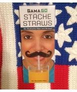 Stache Straws 6 New Mustache Clips And Straws Fun And Wacky :) - $8.84