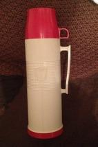 Vintage Thermos Model #2402 Quart Size Red & Beige - $13.99